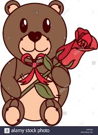Teddy Bear Design Isolated Teddy Bear Design Stock Vector Art Illustration
