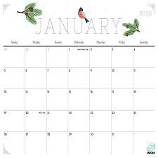 2020 Printable Calendars 9 Free Printable Calendar Designs