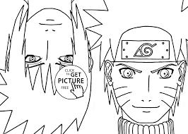 Naruto Vs Sasuke Anime Coloring Pages For Kids Fresh Color Bright