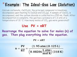 Chem Ii Ideal Gas Law Liquids And Solids