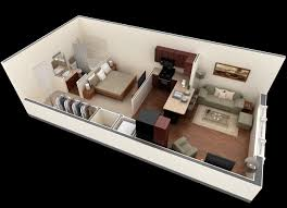 Studio Apartment Floor Plans - Studio apartment floor plans 3d