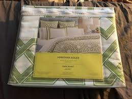 jonathan adler parish green twin white duvet cover new in pack retail 225 00