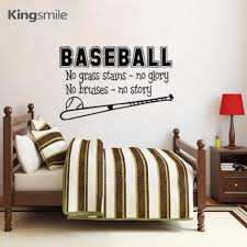 Us 839 30 Offbaseball Inspiring Quotes Sports Vinyl Art Wall Sticker Decals Poster Stickers Gift For Kids Baby Room Decoration Size 70x40cm In