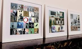 up to 91 off personalized banksy collage canvas print  on personalized photo collage wall art with customized banksy collage print graff io groupon