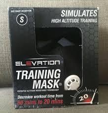 100 149 Lbs Elevation Training Mask 2 0 Small Mma Fitness