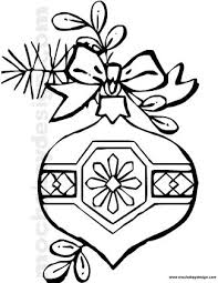 Small Picture Printable Christmas Ornament Coloring Page MochaBayDesigncom