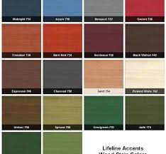 18 Comprehensive Exterior Wood Stains Color Chart