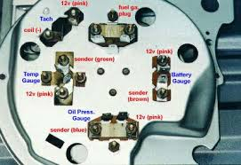 converting 69 chevelle idiot lights to factory tach diagram 1 the brown wire will go to the battery gauge negative terminal pink wire to the 12v positive side blue wire from the sending unit to the oil
