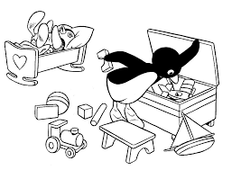 Baby Penguin Coloring Pages Classic Style Cute Penguin Coloring