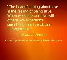 """Quote #Love """"The beautiful thing about love is the feeling of ... via Relatably.com"""