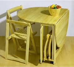 image of wooden folding kitchen table