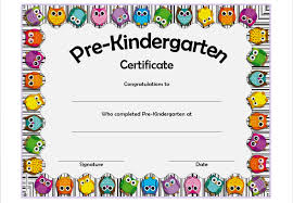 Certificate Templates Preschool Certificate Templates For