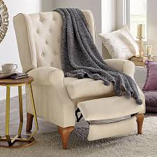 queen anne wingback recliner chairs
