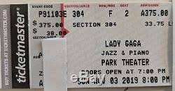 2 Lady Gaga Jazz Piano Tix Aisle Seats Nov 3 2019 Park