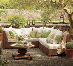 patio furniture design ideas. image of pottery barn outdoor furniture sofa and pillow patio design ideas