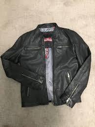 superdry basic jacket leather jacket sz s mens black superdry jackets superdry 100 quality guarantee