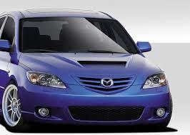 Mazda Mazda 3 Hoods, Mazda Mazda 3 M-Speed Style Hood 04 05 06 07 ...