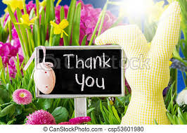 Thank You Easter Spring Flowers Easter Decoration Text Thank You