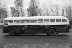 古いビンテージ クラウン バス 1952 クラウン スーパー コーチ