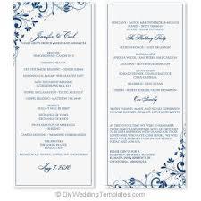 Wedding Template Microsoft Word Wedding Program Template Instant Download Edit Yourself