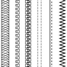 Free Fashion Design Brushes Zippers Stitching Free Vector In