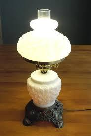 antique milk glass lamp vintage milk glass hurricane lamp and night light antique metal with white antique milk glass