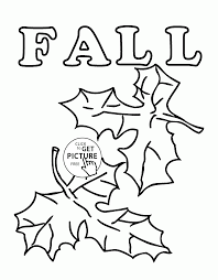 Small Picture Fall Leaves coloring pages for kids seasons fall printables free