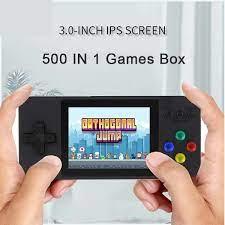 Máy chơi game 4 nút cầm tay mini 500 trò retro nhỏ gọn phím nhạy có thêm  tay cầm cho 2 người chơi kết nối TV   DŨNG PHÁT STORE