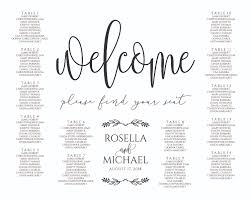 Seating Chart Wedding Wedding Seating Chart Sign Digital File Design Scs 169
