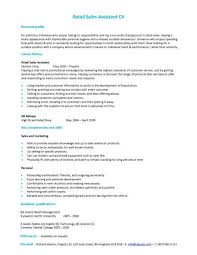Cv Retail Retail Sales Assistant Cv