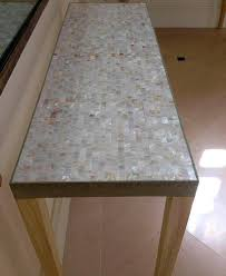 previous mother of pearl table top chevron pattern home
