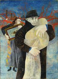 ben shahn father and child 1946 tempera on cardboard 39 7