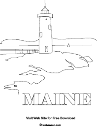 Small Picture Maine Coastal Lighthouse Coloring Page