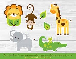 Safari Animals Template Pin On Party Cut Outs