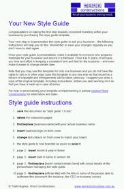Style Guide Template Word A Corporate Style Guide Template