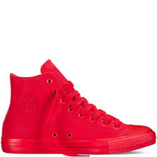 converse chuck taylor all star coated canvas high top shoes mens red red red converse high tops converse high tops uk