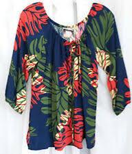 Manuheali I Size Chart Manuhealii Floral Tops Blouses For Women For Sale Ebay