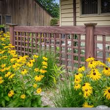 vinyl lattice fence panels. Looking For An Enclosure To Hide Your Air Conditioner Or Trash Cans? How About A Vinyl Lattice Fence Panels