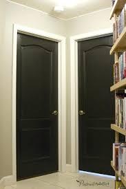 door paint colors the interior doors in the hallway were painted black love how they turned door paint colors
