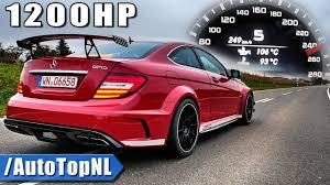 mercedes amg c63 black. Exellent Black 1200HP Mercedes C63 AMG BLACK SERIES 0250kmh ACCELERATION U0026 SOUND By  AutoTopNL Inside Amg Black A