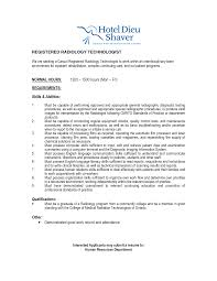 Radiology Technician Resume Virtren Com