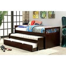 Pull up bed Little Extra Furniture Of America Cm1610tr452exp Gartel Dark Walnut Finish Wood Frame Day Bed Sears Bed With Pull Out Guest Bed
