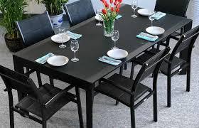 garden table set violet black person aluminium gl extending modern outdoor ideas