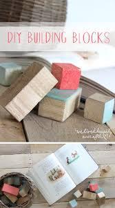 diy painted wooden building blocks