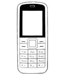Ingenious Cell Phone Coloring Page Mobile Sheets Colouring To