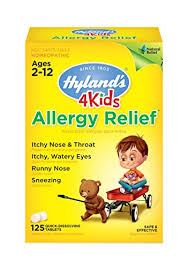 Amazon.com: Hyland's 4 Kids Allergy Relief Tablets, Natural Relief ...