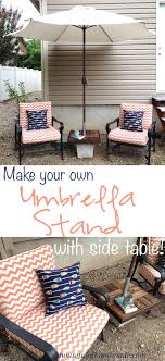 make your own garden furniture. make your own umbrella stand side table garden furniture