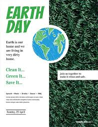 Free Earth Day Flyer Template Word Psd Apple Pages