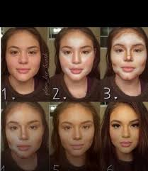 make up tips for a round face