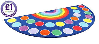 half circle rugs by category carpets mats rugs rainbow semi circle